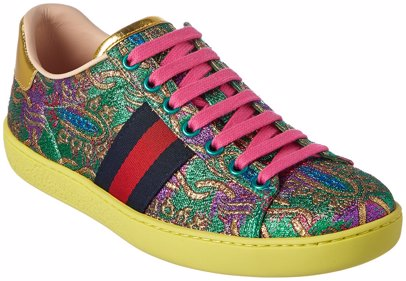 8af27d2652c www.cocosa.co.uk — Gucci Gucci Ace Metallic Brocade Low-Top Sneaker