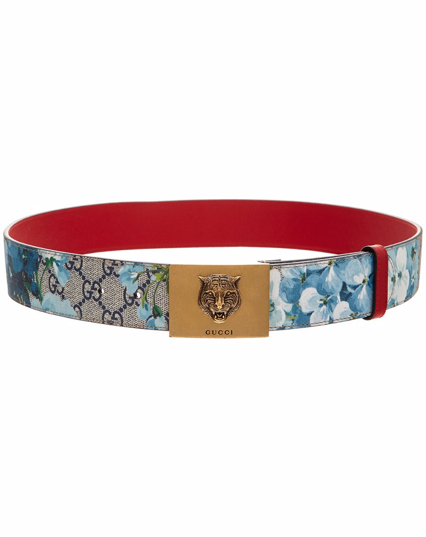 72790c59a96 Preview with Zoom. Gucci. Gucci Blooms GG Supeme Canvas Plaque Buckle Belt