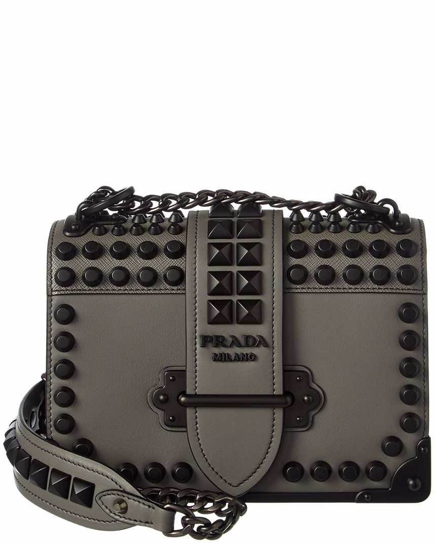b969fc807490 OZSALE | Prada Prada Cahier Leather Shoulder Bag