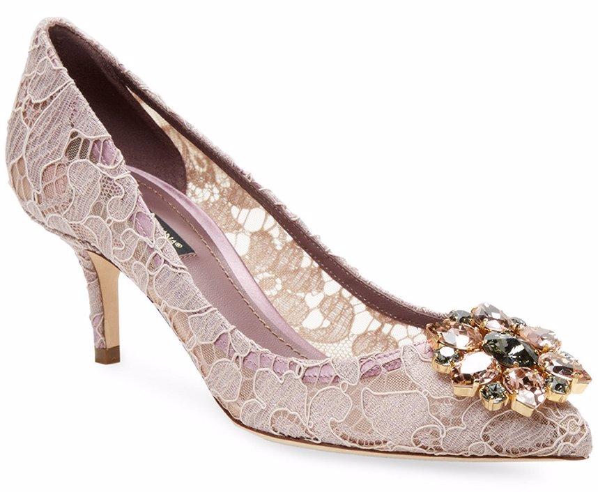 e16f2e8ccfd5 Preview with Zoom. Dolce   Gabbana. Dolce   Gabbana Bellucci 60 Embellished  Taormina Lace Pump