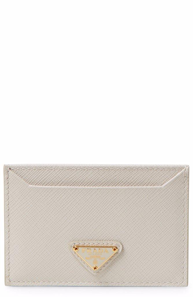 0432ff5e6975 ... best price preview with zoom. prada. prada saffiano leather card holder  7be7c 33899