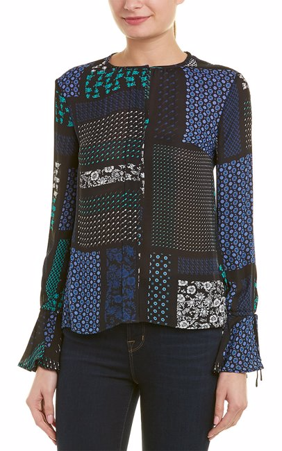 4631e367f538 BuyInvite   Derek Lam 10 Crosby Bell Sleeve Silk Top