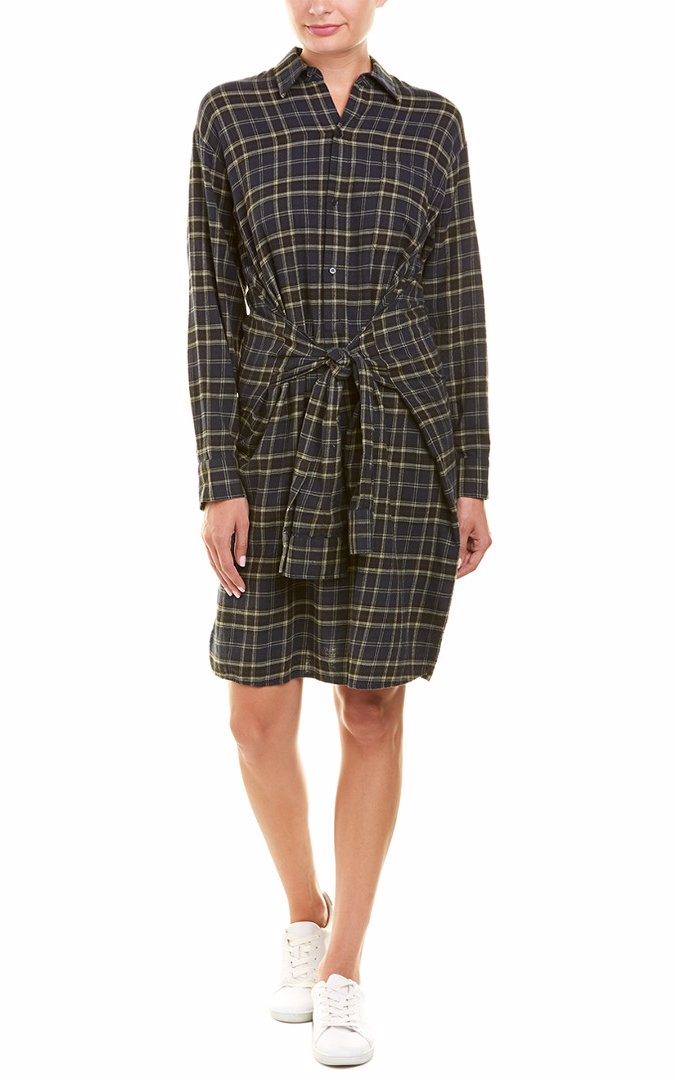 2932f9cc82d Preview with Zoom. Vince. Vince Tie-Front Wool-Blend Shirtdress