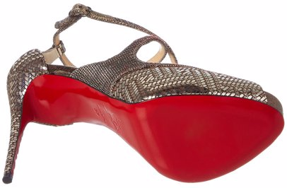 wholesale dealer f04e6 952b4 Christian Louboutin Mira Bella 120 Glittex & Leather Platform Sandal