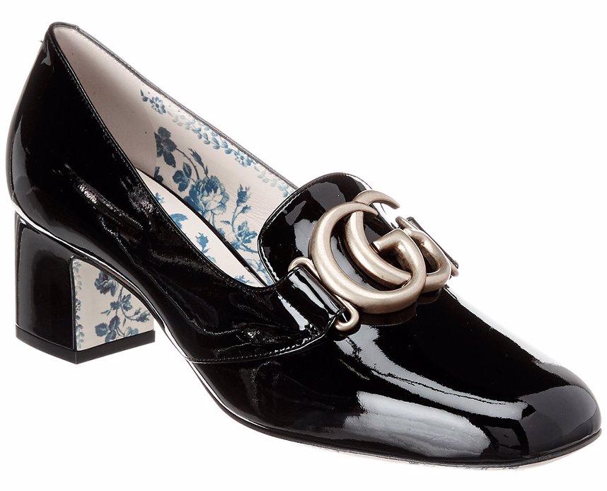 bab8d3edc3 BuyInvite | Gucci Gucci Victoire Gg Mid-Heel Patent Pump