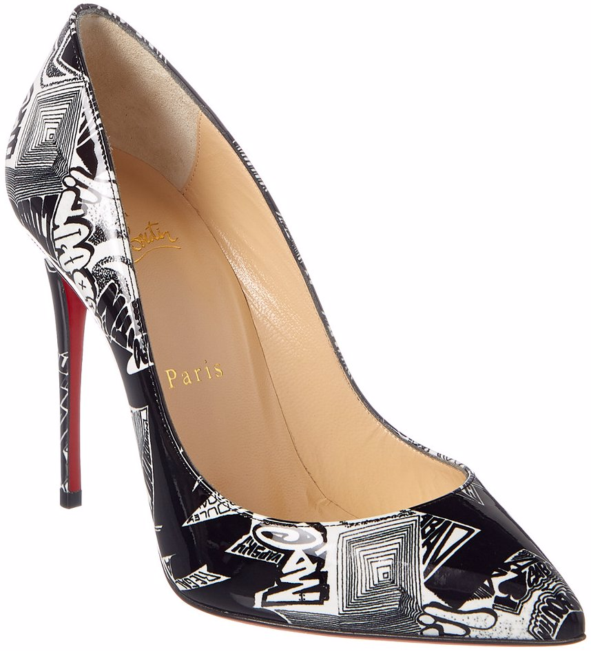 official photos 28ffe ddf5d Pigalle Follies 100 Graffiti Patent Pump