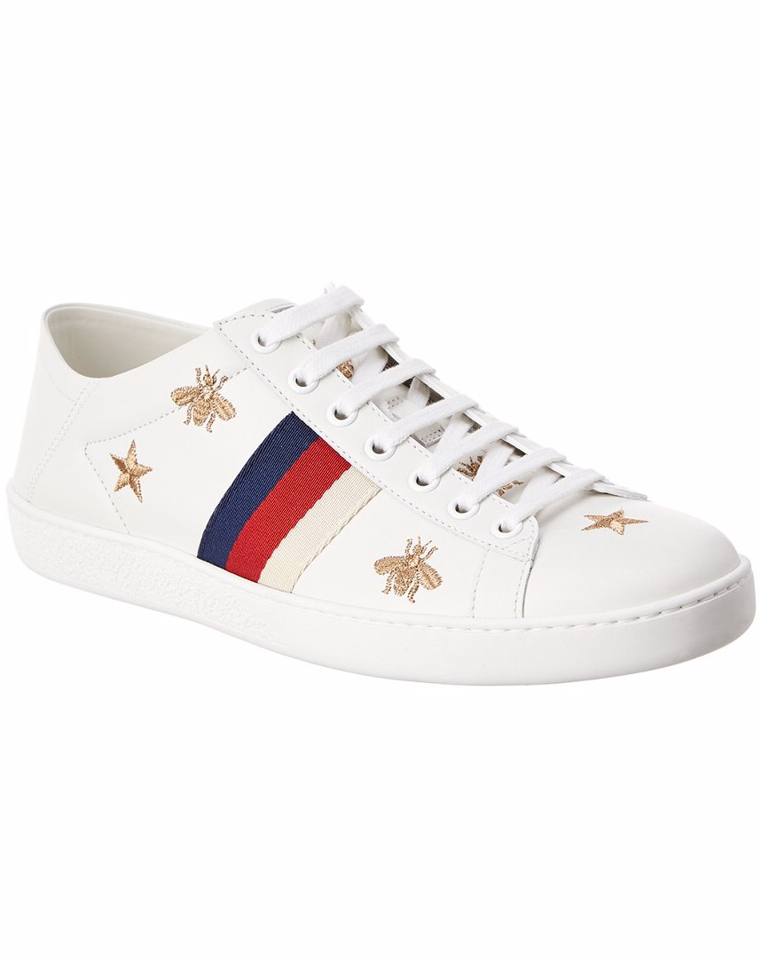74ce2c6c1 OZSALE | Gucci Gucci Ace Bees & Stars Collapsible Heel Leather Sneaker