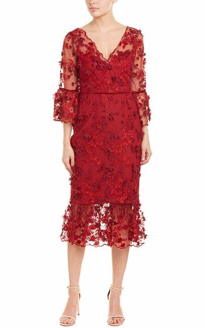 5df003de33d BuyInvite | Marchesa Notte Sheath Dress