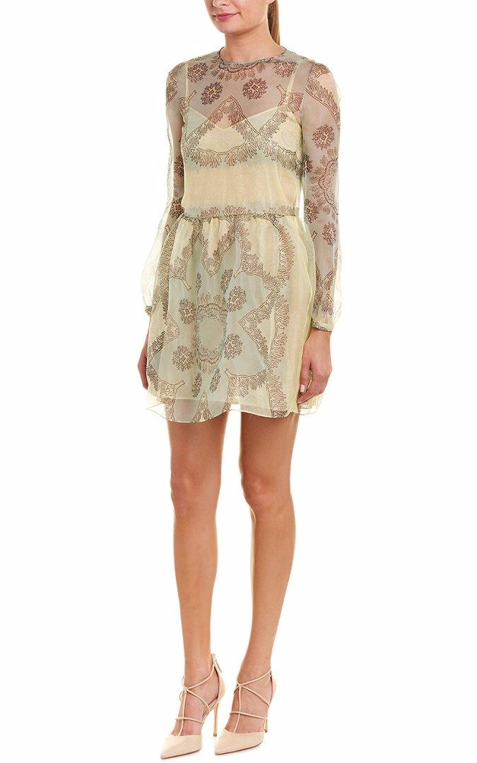 Valentino Womens Silk A Line Dress