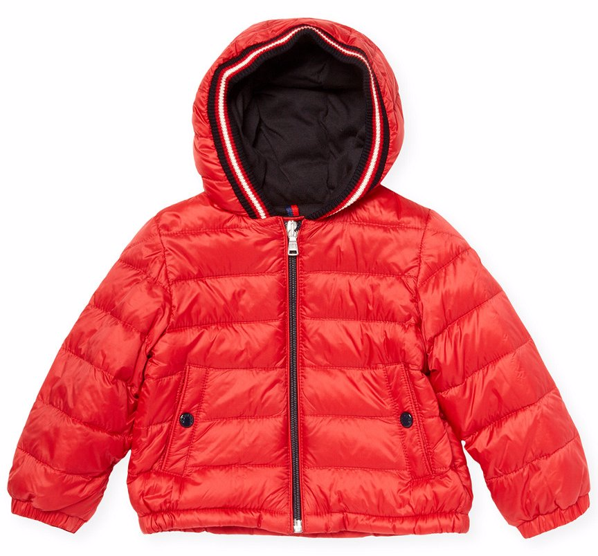 moncler puffer jacket red
