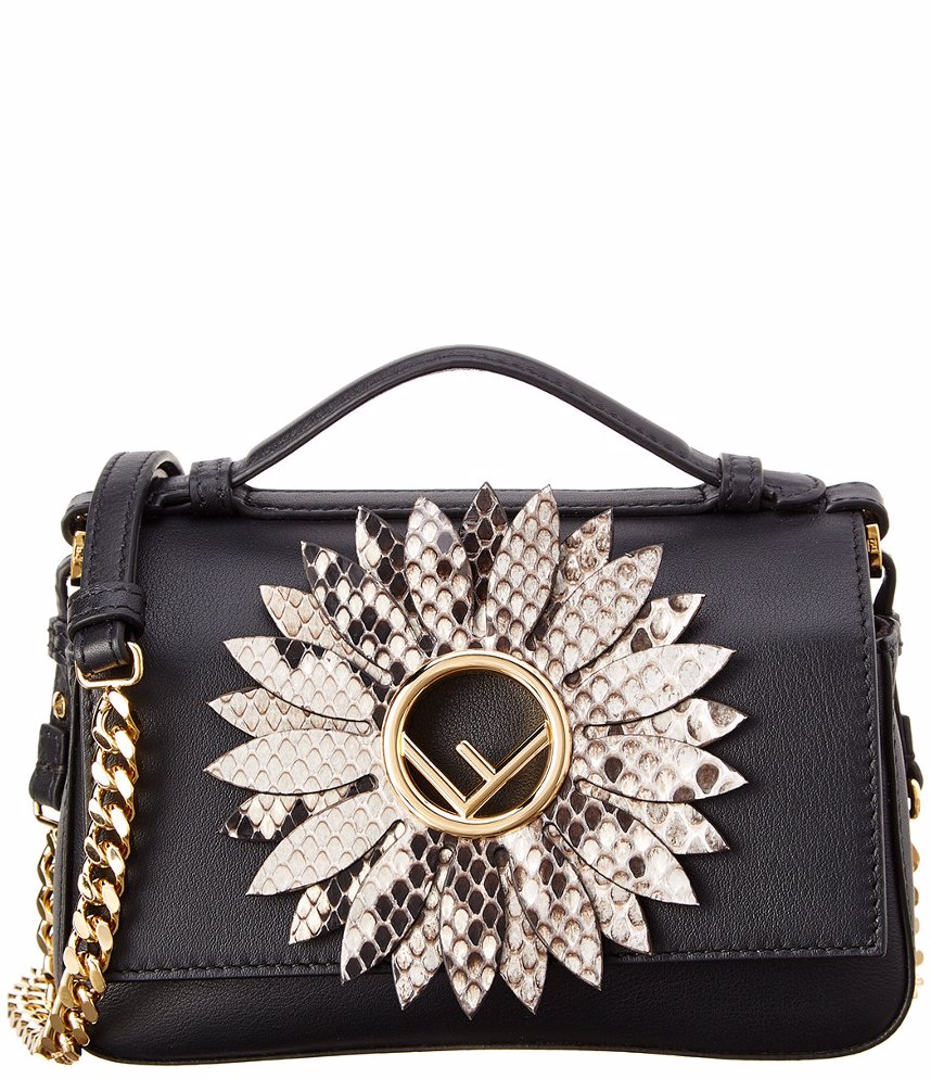 d67602d1e8d3 www.ozsale.com.au — FENDI FENDI F Duo Flower Leather Shoulder Bag