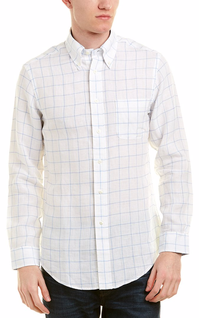 Casual Button-down Shirts Shirts David Bitton Medium Shirt Gray Striped V Neck Short Sleeve Collar Men W81
