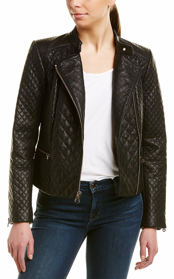 e525444900e BuyInvite   Cole Haan Quilted Leather Jacket