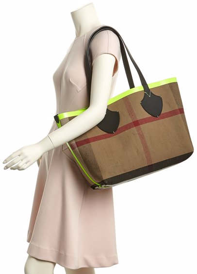 aafa59689a MYSALE | Burberry Burberry Medium Giant Reversible Canvas Check & Leather  Tote