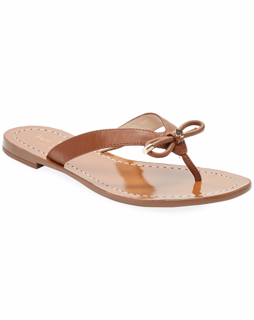 c27c4e31d5e5 Preview with Zoom. kate spade new york. kate spade new york Leather Thong  Bow Sandal
