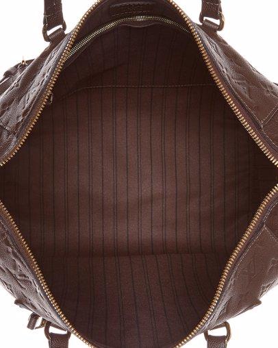 32e6160f74b4 BuyInvite   Louis Vuitton Brown Monogram Empreinte Leather Lumineuse PM