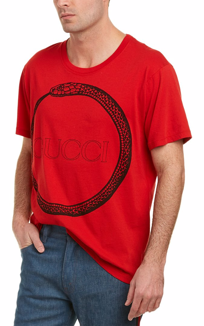 e0d4a148be3 Preview with Zoom. Gucci. Gucci Ouroboros T-Shirt