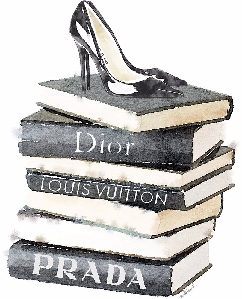 OZSALE | iCanvas Tall Stack Of Fashion Books With Heels by
