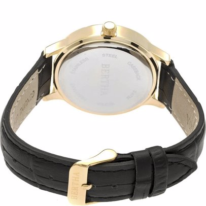 bb1462968c BuyInvite | Bertha Eden Mother Of Pearl Leather Strap Watch