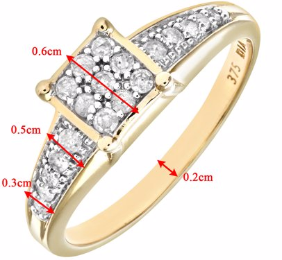 a93cf8b40f BuyInvite | Rinani 9ct Yellow Gold Ladies Diamond Ring