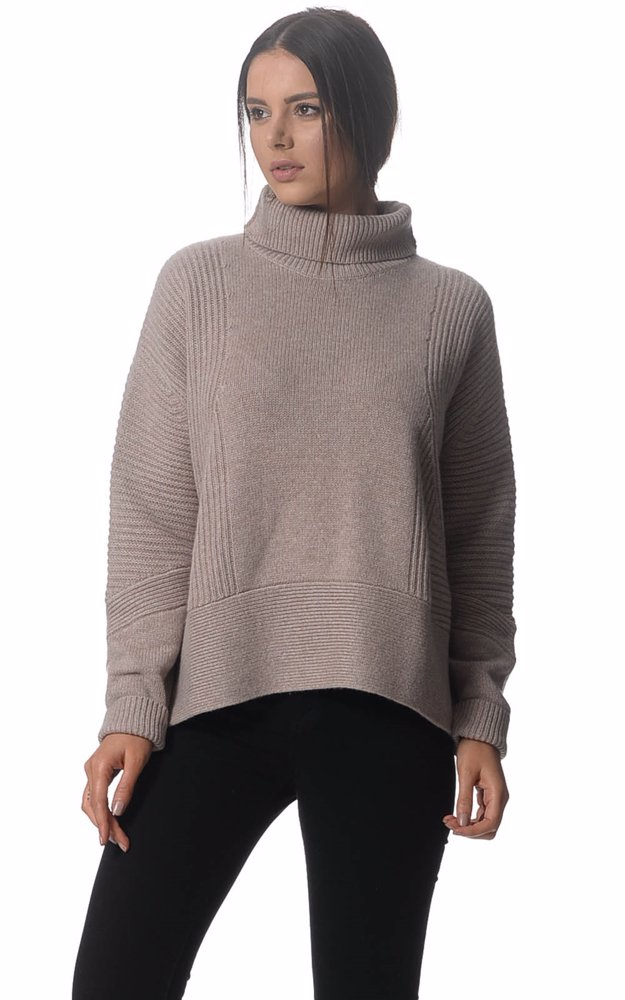 DealsDirect | Kit and Ace Cashmere Hthr Antler Ash Turtleneck