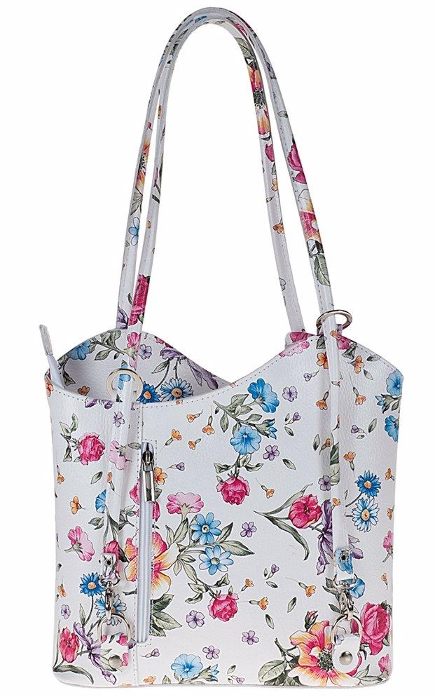 Deairect Au Pitti Italian Leather Handbags Maude Shoulder Bag Flowers