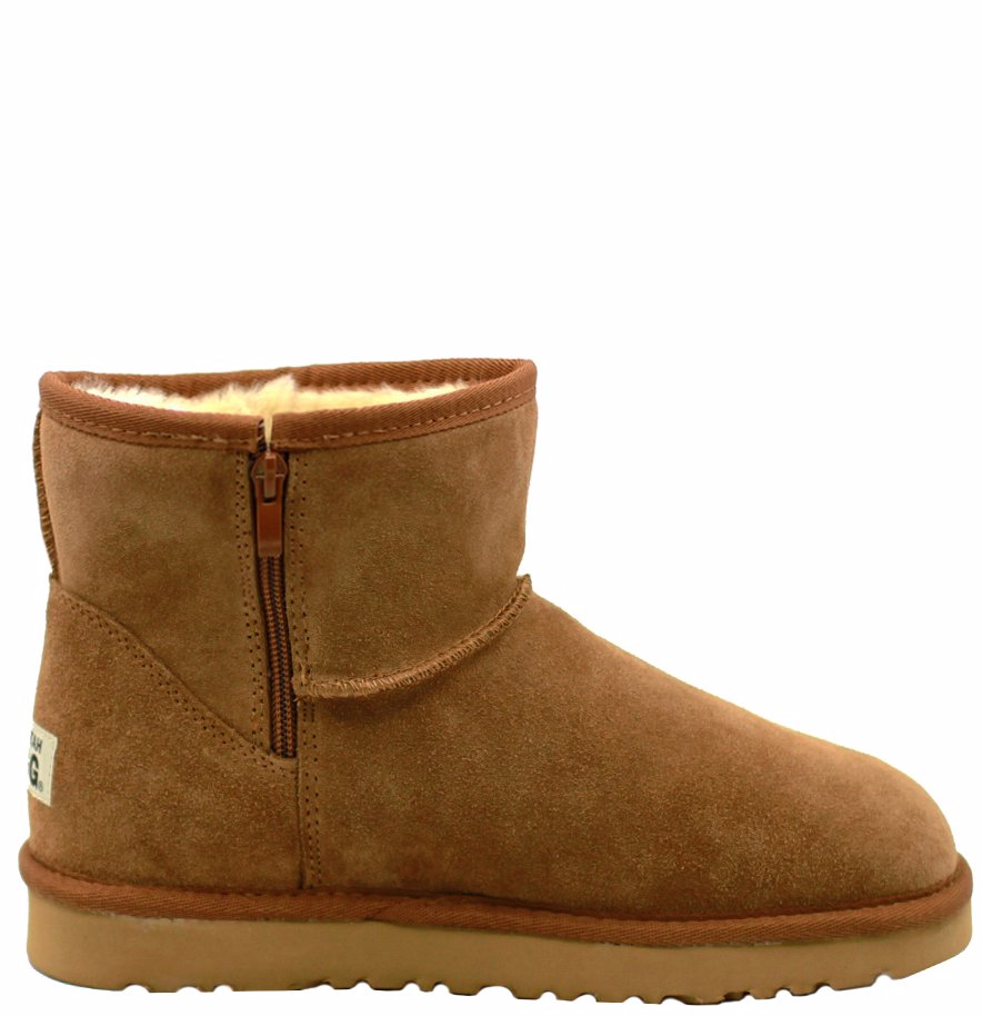 891ed304ac9 BuyInvite | Waratah UGG® Water Resistant Short Zip Up Boot - Chestnut