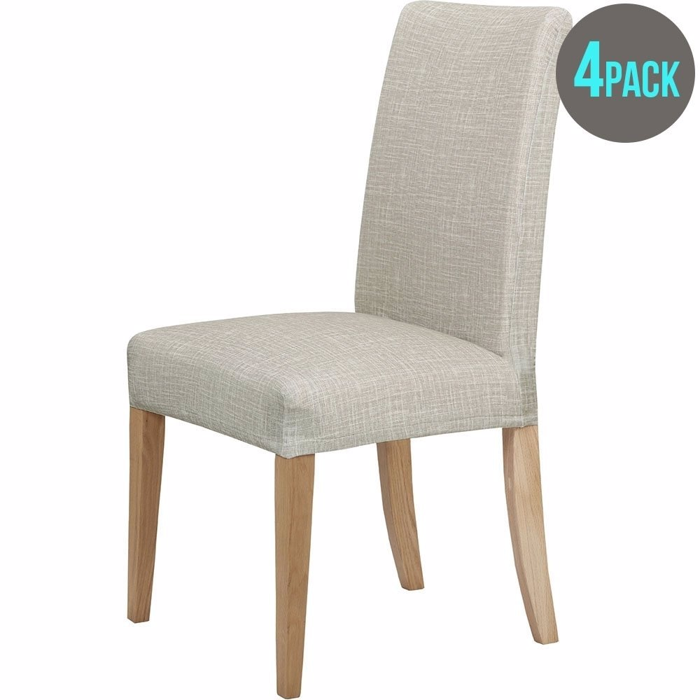 Sold Out Preview With Zoom Accessorize 4 Pack Stretch Dining Room Chair Cover