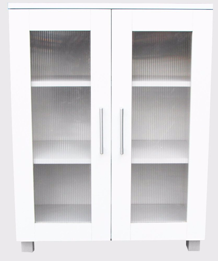 Ozsale Aspen Cupboard 2 Door Pantry Storage Cabinet Low White