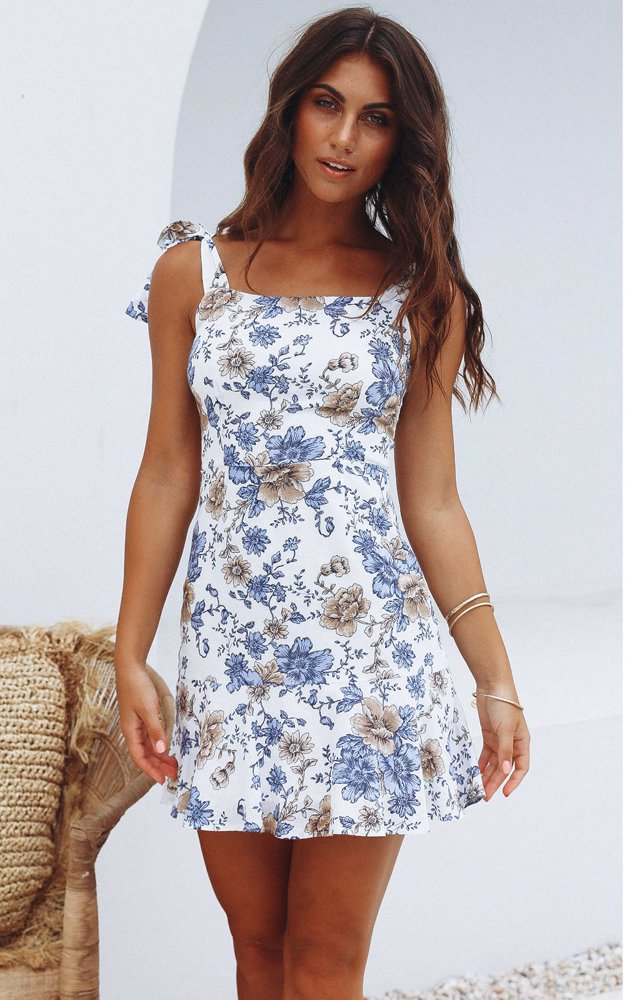 7285b7a2581a www.dealsdirect.com.au — Jamie My Love White With Blue Floral Print ...