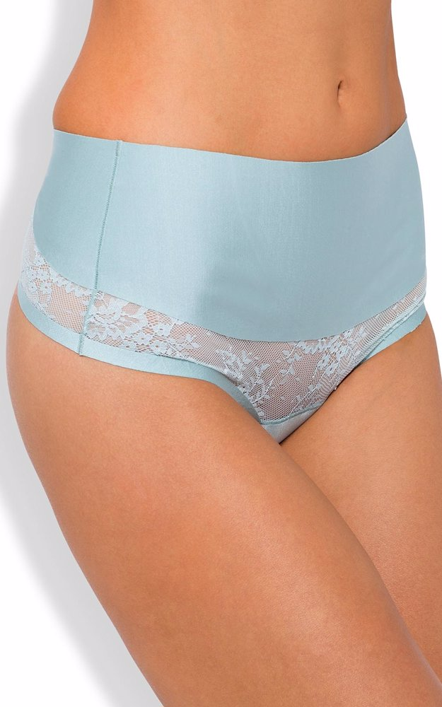 00bba78f874a OZSALE | Nancy Ganz Dusky Mint Sweeping Curves Lace G-String