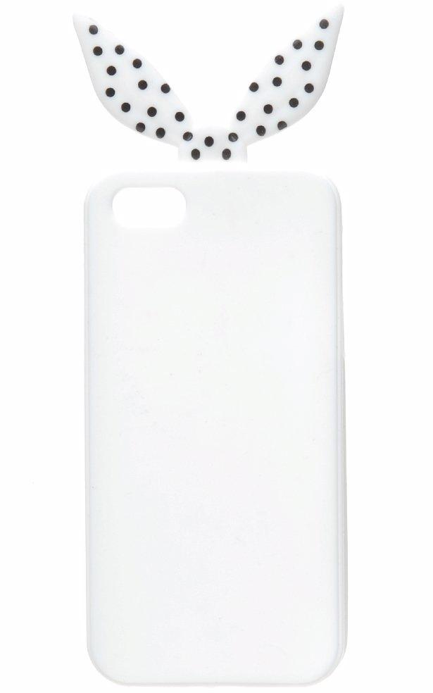 Mobile Phone Cover White Black Dot