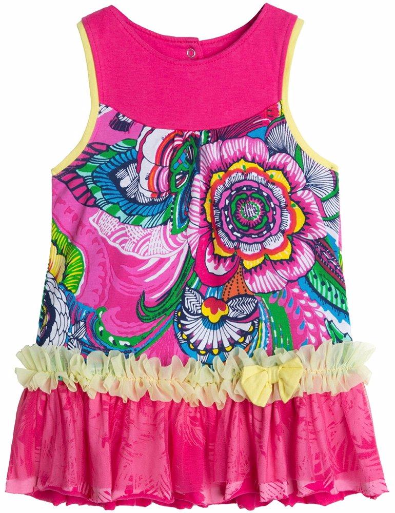Www Mysale My Desigual Baby Girl Lace Pink Dress Sleeveless