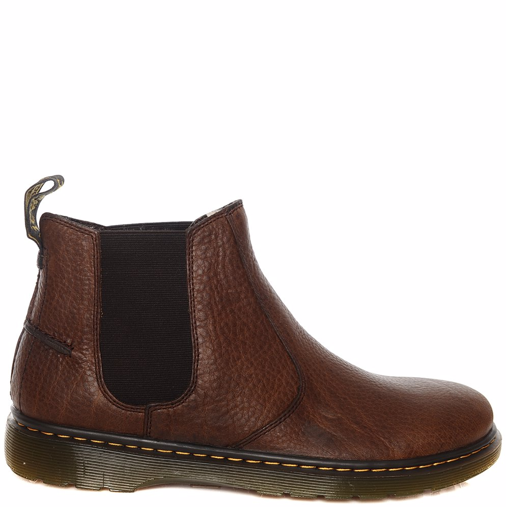 981e230ed74 NZSALE | Dr Martens Lyme Grizzly Chelsea Boots Dark Brown
