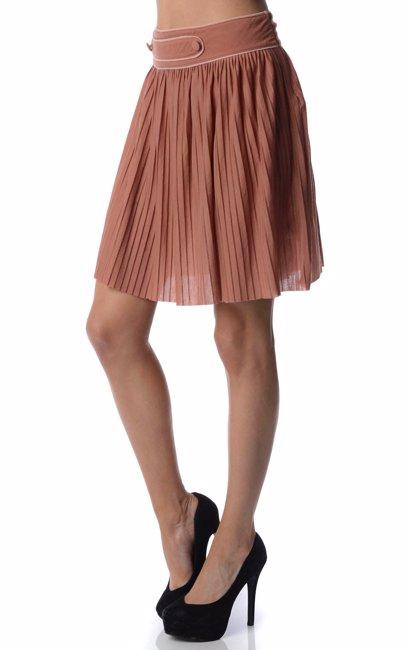 6d6a083b58 BuyInvite | Naf Naf Burnt Orange Pleated Skirt