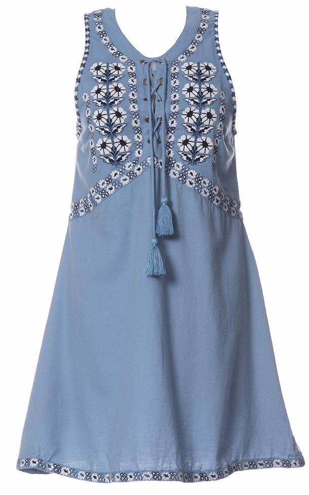 464c843c7a7664 OZSALE | Tigerlily Chambray Sedona Dress