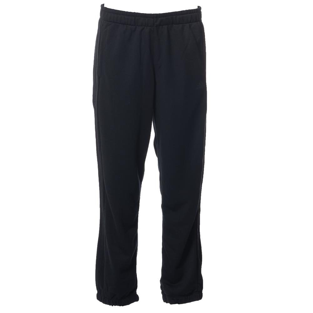 Essentials 3 Stripes French Terry Pants Black