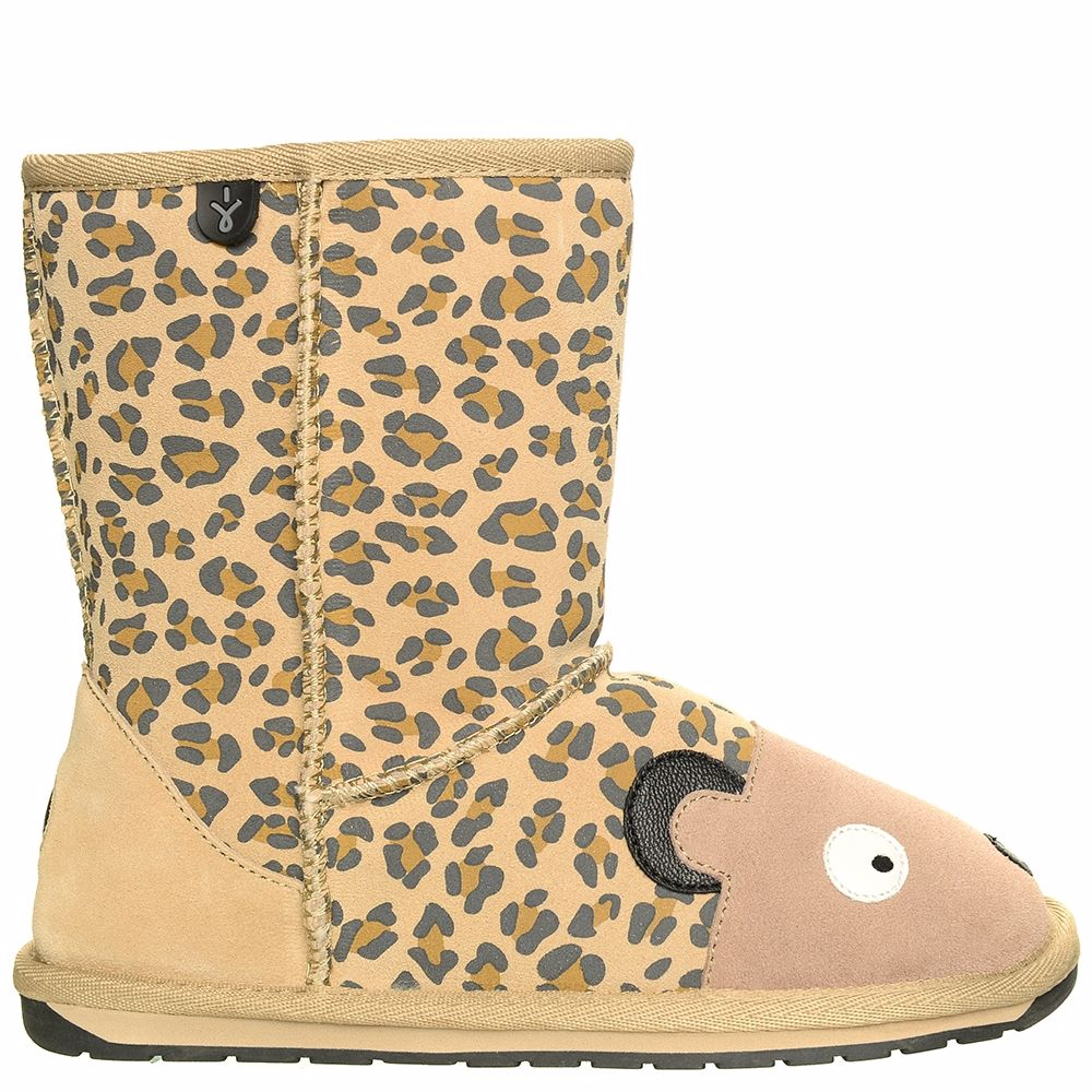 Kids Emu Australia Winter Snow Cheetah Deluxe Wool Boots