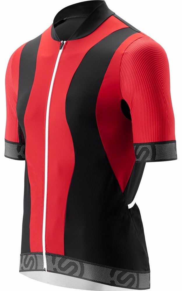 Preview with Zoom. Skins. Mens Cycle Short Sleeve Jersey Tremola Red Black  White 94270cee8