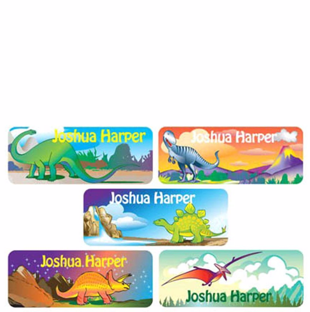 www personalised labels 90 dinosaur small vinyl labels