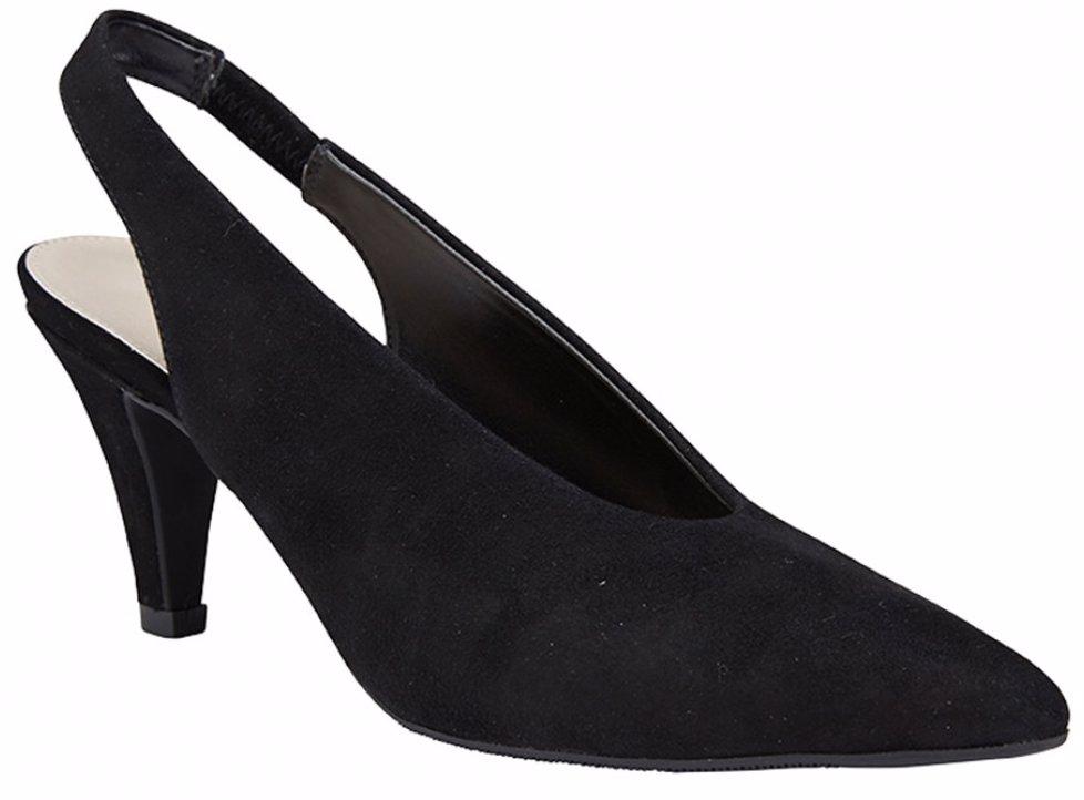 40fbd513bf BuyInvite   Sandler Womens Footwear Sandler Olympia Black Suede Heels