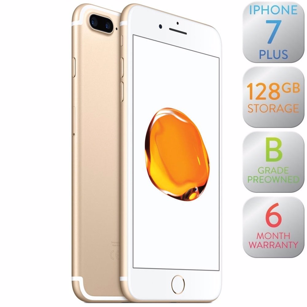 Apple Iphone 7 Plus 128gb Gold Refurbished Iphone7 Preview With Zoom