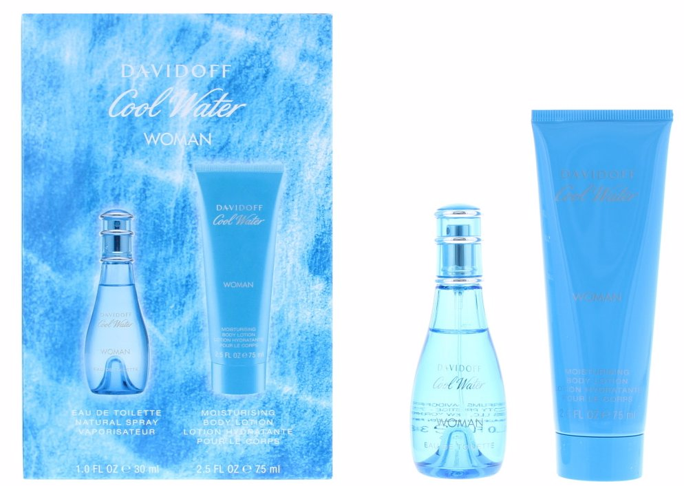 Davidoff Cool Water Edt 30ml & Body Lotion Female