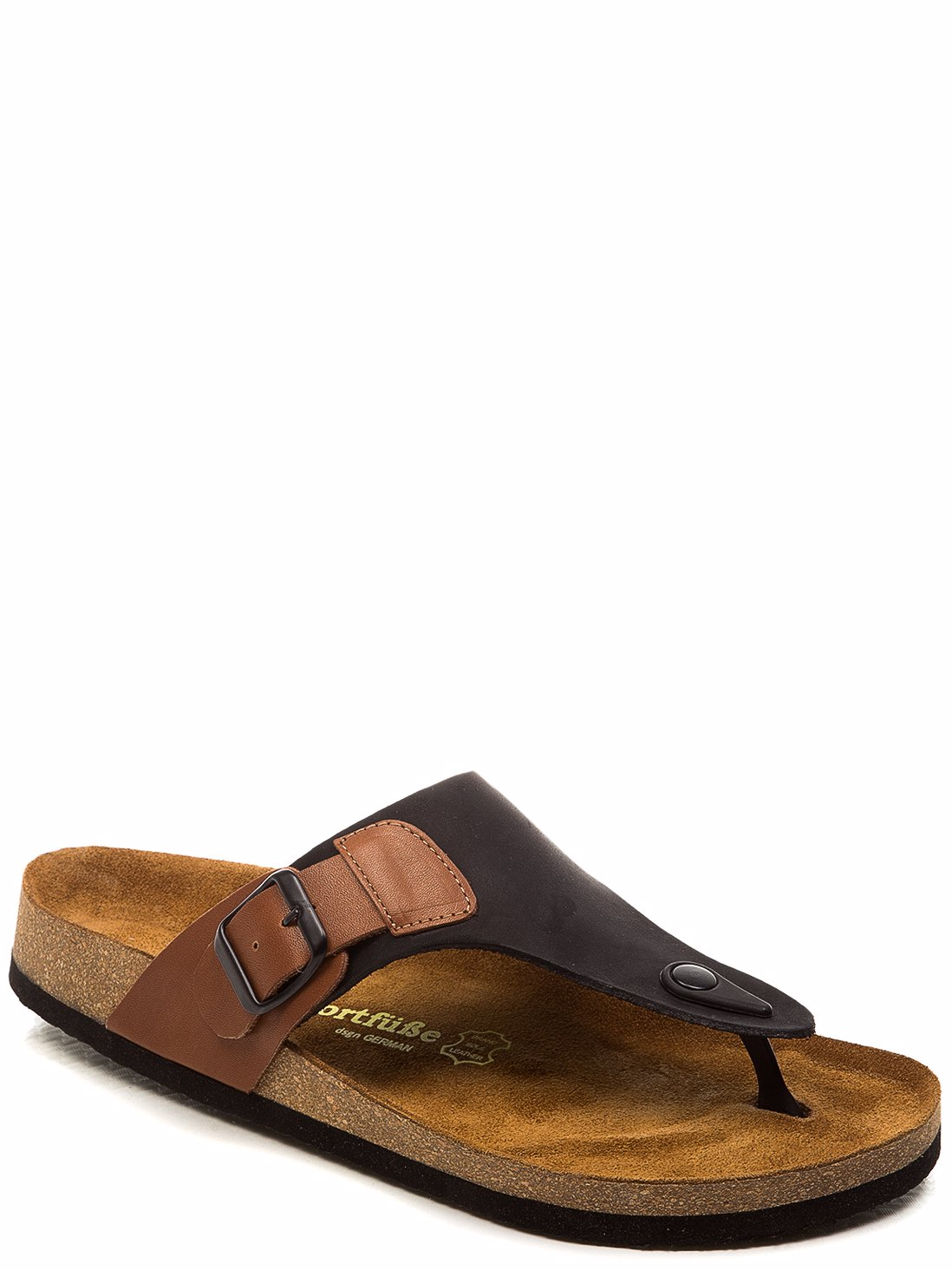 3d18b16d381e Preview with Zoom. Comfortfusse. Leather Mens Aksel Sandal Black