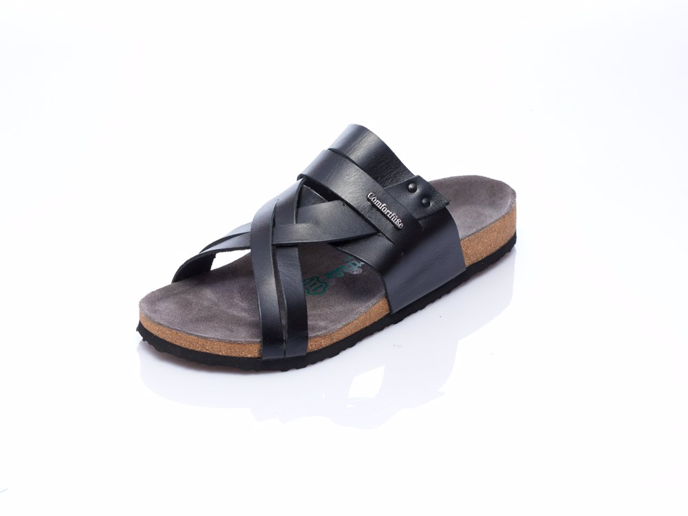 08f7d71d40e9 This product is not available. Preview with Zoom. Comfortfusse. Leather  Mens Merv Sandal Black