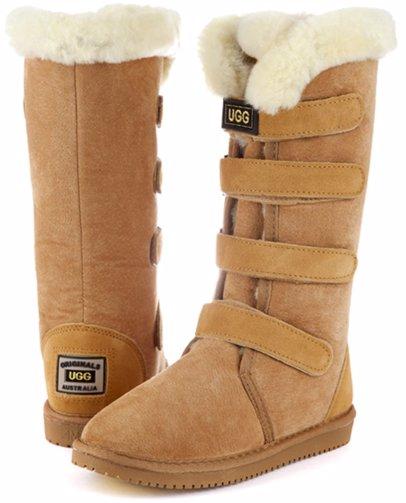 d579b9474da Velcro Chestnut Long Boots