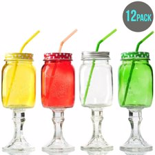 10 beverage bars that will impress your guests - Stemmed mason jars ...