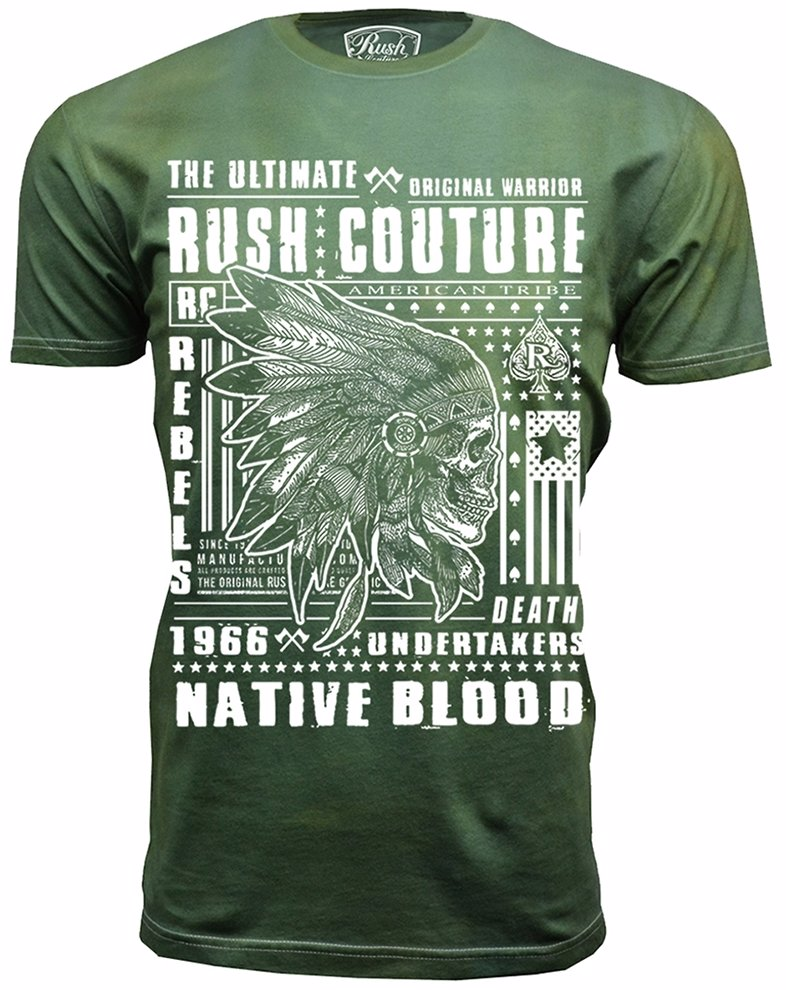 Ozsale Rush Couture 100 Cotton Military Green And White Indian