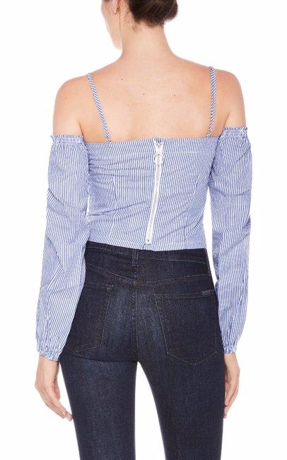c3bf87ad5 MYSALE | Joe's Jeans 100% Cotton Womens Noelle Top Light Blue Stripe
