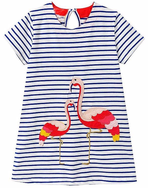 553c8b80ddb6 BuyInvite | Kids Casual Apparel Blue Girl'S Short Sleeeved Dress